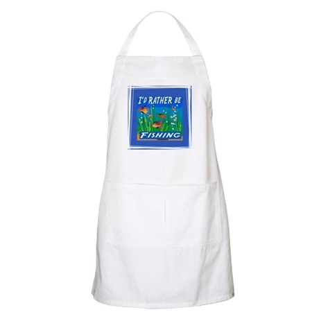 Rather be Fishing BBQ Apron
