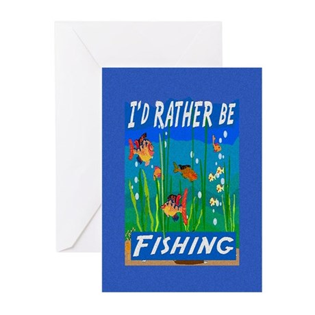 Rather be Fishing Greeting Cards (Pk of 10)