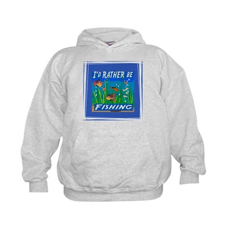 Rather be Fishing Kids Hoodie