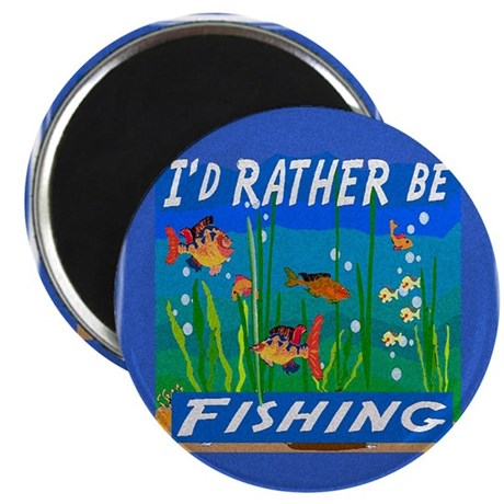 "Rather be Fishing 2.25"" Magnet (10 pack)"