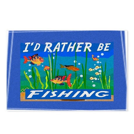 Rather be Fishing Postcards (Package of 8)