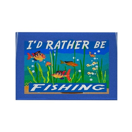 Rather be Fishing Rectangle Magnet (100 pack)