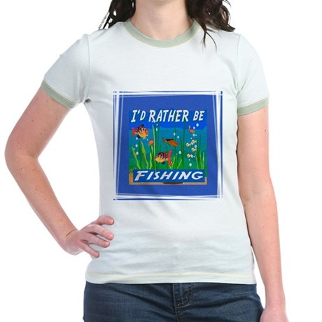 Rather be Fishing Jr. Ringer T-Shirt