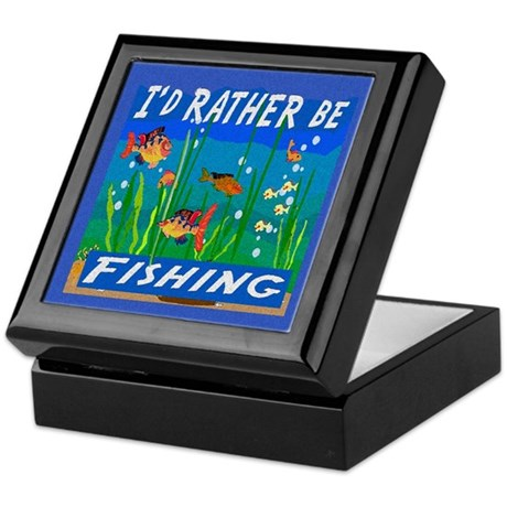 Rather be Fishing Keepsake Box
