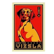 Obey the Vizsla! Postcards (Package of 8