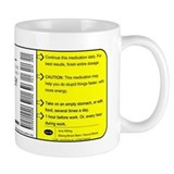 """Caffeine"" Prescription Small Small Mugs"