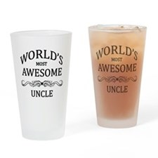 World's Most Awesome Uncle Drinking Glass
