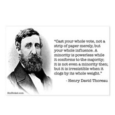 Thoreau on Minority Political Power Postcards