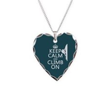 Keep Calm and Climb On Necklace