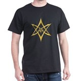 Gold Curved Unicursal Hexagram T-Shirt