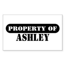 Property of Ashley Rectangle Decal