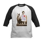 My Pit Bull is Family Kids Baseball Jersey