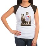 My Pit Bull is Family Women's Cap Sleeve T-Shirt