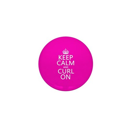 Keep Calm and Curl On Mini Button (10 pack)
