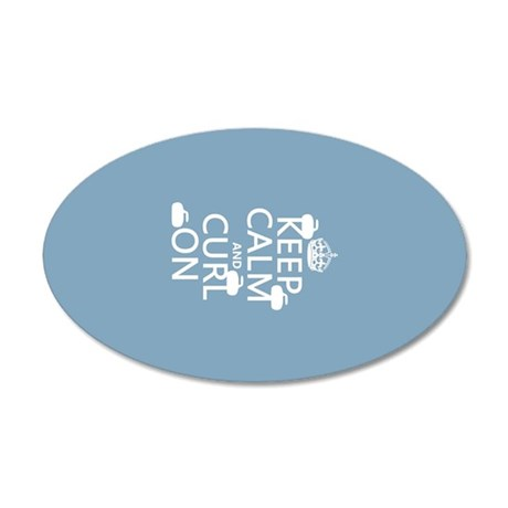 Keep Calm and Curl On (curling) Wall Sticker