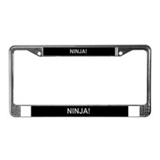 Cute Ninja License Plate Frame