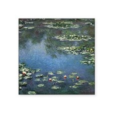 """Water Lilies by Claude Mone Square Sticker 3"""" x 3"""""""