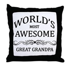 World's Most Awesome Great Grandpa Throw Pillow