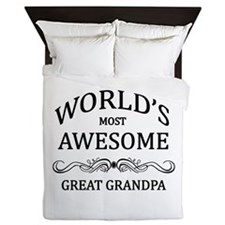 World's Most Awesome Great Grandpa Queen Duvet