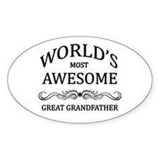 World's Most Awesome Great Grandfather Decal