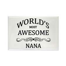 World's Most Awesome Nana Rectangle Magnet (10 pac