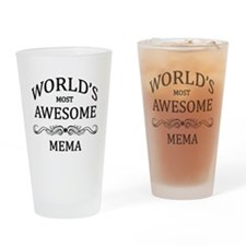 World's Most Awesome Mema Drinking Glass