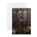 Octopus' lair - Old Photo Greeting Cards (Pk of 20