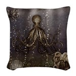 Octopus' lair - Old Photo Woven Throw Pillow