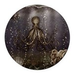 Octopus' lair - Old Photo Round Car Magnet