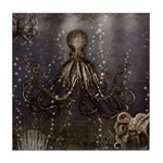 Octopus' lair - Old Photo Tile Coaster