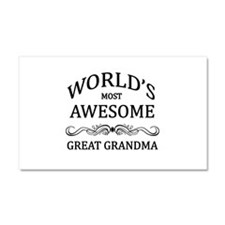 World's Most Awesome Great Grandma Car Magnet 20 x
