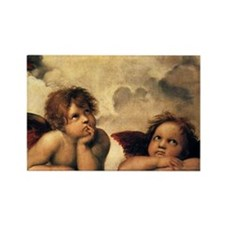 Angels by Raphael, Vintage Renais Rectangle Magnet