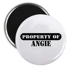 "Property of Angie 2.25"" Magnet (10 pack)"