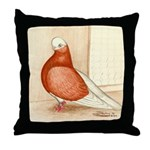 English Shortface Bald Throw Pillow