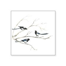 Watercolor Magpie Bird Family Animal Sticker