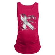 I Wear White for my Husband.png Maternity Tank Top