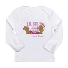 Shopping Bears: Lil Sis Long Sleeve Infant T-Shirt