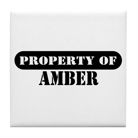 Property of Amber Tile Coaster