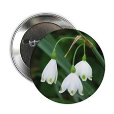 "Snowflake Flowers 2.25"" Button (100 pack)"