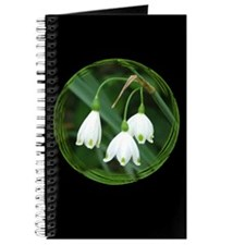 Snowflake Flowers Black Journal