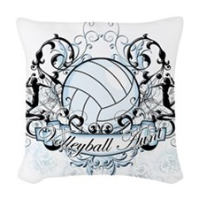 Volleyball Aunt.png Woven Throw Pillow
