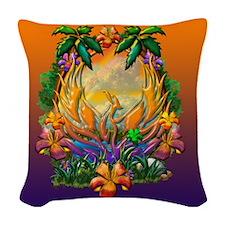 Phoenix Rising Woven Throw Pillow