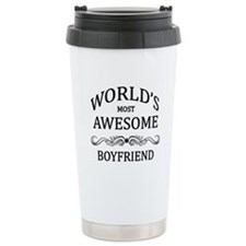 World's Most Awesome Boyfriend Ceramic Travel Mug
