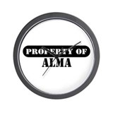 Property of Alma Wall Clock