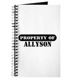 Property of Allyson Journal