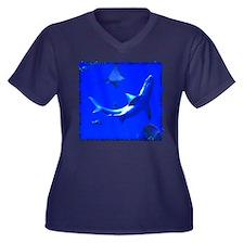 Shark and Stingray Plus Size T-Shirt