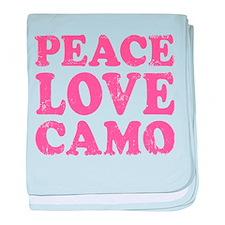 Peace Love Camo baby blanket