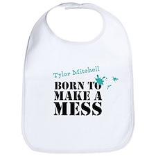 Born To Make A Mess Personalised Baby Bib