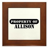 Property of Allison Framed Tile