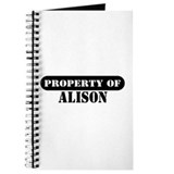 Property of Alison Journal